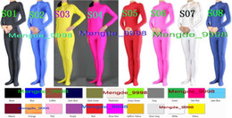 sexy halloween costume spandex body suit Canada - Sexy adult Body Suit Unisex Costumes New 22 Color Lycra Spandex Catsuit Costumes Bodysuit Outfit Unisex Halloween Cosplay Suit M020