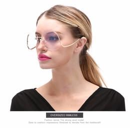 $enCountryForm.capitalKeyWord Canada - TSHING 2016 New Oversized Round Rimless Sunglasses Women Fashion Optics Big Metal Frame Sun glasses Elegant Female Myopia UV400