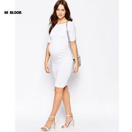 9fba5bbaa Ropa de maternidad de Año Nuevo elegantes vestidos de noche para mujeres  embarazadas suelta embarazo Vestidos de fiesta de maternidad blanca vestido  de ...