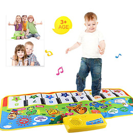 play gym toy Canada - Infant Playing Type Baby Music Carpet Mat New Touch Play Keyboard Musical Singing Gym Carpet Mat Kids Baby Toys Gift Krystal