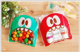 $enCountryForm.capitalKeyWord Australia - 100pcs 7cm OPP Cute small Monster Sharp teeth Baking Christmas Gift Packaging Bags Wedding Cookie Candy Plastic bag