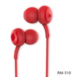 Mp3 Music For Cell Phones NZ - Remax Earphones For iPhone 7 RM-510 In Ear Microphone Earphone MP3 Music Earphone High Performance Smart mobile phone Stereo Headset