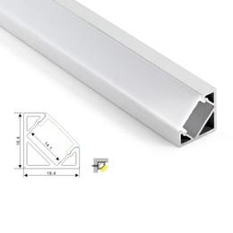 50X1 M setleri / lot 30 derece açı led alüminyum profil ve V köşe kanal mutfak veya led kabine lambalar