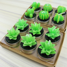 $enCountryForm.capitalKeyWord Australia - Hot Sale green succulent flameless candles ZAKKA Potted Plants Shape Scented Candle Lamp christmas party decorations candles Supplies