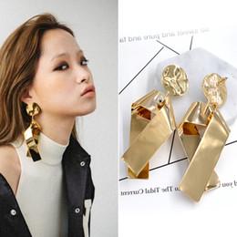 $enCountryForm.capitalKeyWord Canada - Europe Podium Earrings Exaggerated Nightclub Gold Metal Big Cross Long Earrings For Women Jewelery booklet d'oreille Brinco
