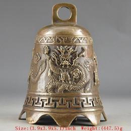 Brass dragon Bell online shopping - Elaborate Handwork Chinese Brass Old Dragon Embossment Bell