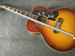 Jumbo maple guitar online shopping - 2017 NEW acoustic Guitar jumbo SJ200 honey burst solid spruce standard acoustic guitar brand new arrival