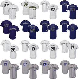 a795b43f824 ... 28 Nolan Arenado 19 Charlie Blackmon Jersey Mens 27 Trevor Story Colorado  Rockies Baseball Jerseys White ...