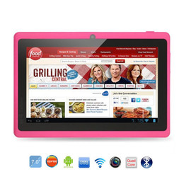 Quad Android Tablet Australia - Wholesale- Hot 7 inch Tablet Q88 Quad Core ROM 8GB 1024*600 pxl Allwinner A33 Android 4.4 PC Bluetooth