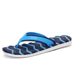 6df045877d66f4 Summer Rain Shoes UK - Summer Casual Men s Flip Flops Flat Sandals Shoes  For Men Striped