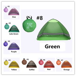 Tents Camping Gear Canada - Fashion Quick Automatic Opening Outdoors Tents 50+ UV Protection Outdoor Gear Camping Shelters Tent Beach Lawn Summer Camp Graduation Travel