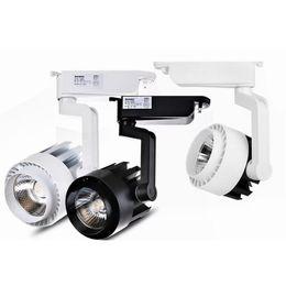 Chinese  LED COB Track Light 20W 25w 30w 40w Indoor Lighting Rail Lights Spotlight Clothing Shoe Shop 110V- 240V Warm Natural Cold white manufacturers