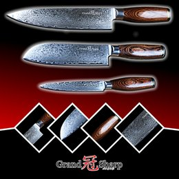 $enCountryForm.capitalKeyWord Canada - GRANDSHARP 3pcs Damascus Knife Set 67 Layers Japanese Damascus Steel vg10 Chef Santoku Utility Kitchen Knives FREE GIFT