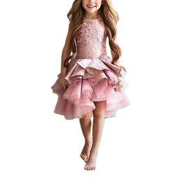$enCountryForm.capitalKeyWord UK - 2017 Short Blush Children Little Girls Pageant Interview Suits Pink Puffy Girls Prom Dress Kids Tulle Kids Evening Gowns
