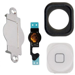 $enCountryForm.capitalKeyWord NZ - 10sets lot for iphone 5 home button keypad Menu + flex cable + holder gasket rubber + metal spacer for iphone 5G Home Button Set