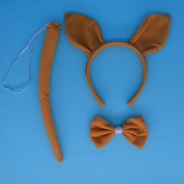 $enCountryForm.capitalKeyWord Australia - 2017 New Kids Adult Kangaroos Ear Animal Headband Hair Band Bow Tie Tail Set Performance Show Cosplay Props Party Favor Gift
