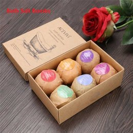 Wholesale 2017 ACE VIVI Organic Bath Salt Bombs Skin Care Oil Sea Salt Handmade Bath Bombs Set Pack of Body Cleaner SPA valentine s day Gift b1121