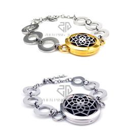 da006b36f578 Ronda de plata y oro Lotus Desgin (25-30mm) con Circle Band Aromaterapia    aceites esenciales difusor Locket pulsera