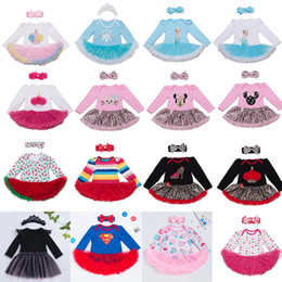 $enCountryForm.capitalKeyWord NZ - 76 Styles Baby girls INS Christmas Rompers lace dress children Long sleeve romper +Bows headbands 2pcs sets baby Xmas pattern Santa Clothes