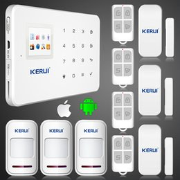 $enCountryForm.capitalKeyWord Australia - LS111- KERUI G18 ios android app GSM home alarm system with touch screen TFT color display Easy Operation