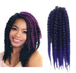 havana mambo twist crochet braids NZ - 12 inch Wand Curl Crochet hair Ombre Havana mambo twist braiding hair Synthetic Crochet Braids hair free shipping
