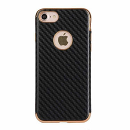 aluminum cell phone cases wholesale UK - New metal aluminum alloy carbon fiber plating tpu cell phone case for samsung J7prime J520 J720 A320 A520 A720
