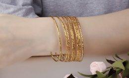 $enCountryForm.capitalKeyWord NZ - LSL Jewelry Gold Plated Woman Bangles EU Style Trendy Thin Delicate Women Wedding Jewelry Gift Cheap Price 1 Piece Price KKH460
