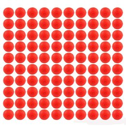 Nerf Guns Wholesale NZ - 100pcs Red Soft balls Rounds Compatible For Nerf Rival Apollo Zeus Refill Toy Gun Bullet Balls