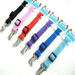 Free Car Media Canada - Free Shipping Strong Pet Dog Car Travel Seat Belt Clip Lead Restraint Harness Width 2.5cm