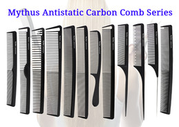 $enCountryForm.capitalKeyWord NZ - 12 Pcs Mythus Series Pro Hair Combs In Different Design Salon Stylist Carbon Fibre Hairdressing Comb Set For Hair Cutting