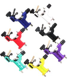 Doublure En Tatoo Pas Cher-Wholesale-Dragonfly Rotary Tattoo Machine Shader Liner 7 couleurs Assorties Tatoo Motor Gun Kits Fourniture pour les artistes