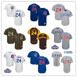 9929673cee6 ... MLB Jersey 2017 Best Mens Chicago Cubs 24 Dexter Fowler Jersey Home  White Road Bule Grey Flex Base ...