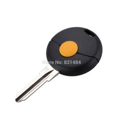 Keys Chip Shell Australia - No Chip 1 Button Replacement Uncut Blank Blade Car Key Case Shell Fit For Mercedes Benz Smart