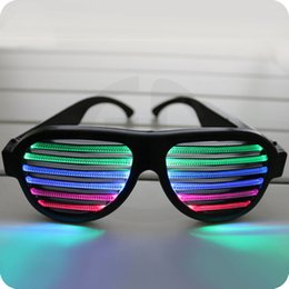 Wholesale Sound Control Led Flashing Glasses Halloween Glowing Party Mask Decor Bar Flashing Voice activated Luminous Glasses ZA3127