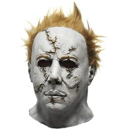 animal face masks UK - Wholesale Hallween Party Cosplay Horror Movie Halloween Michael Myers Mask, Adult Party Masquerade Cosplay Latex Scary Movie Mask