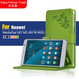 huawei mediapad slim case Canada - Wholesale- Ultra Slim Stand Print Flower Leather Magnetic Closure Smart Case Cover For Huawei MediaPad M2 8.0 inch M2-801W M2-803L Tablet