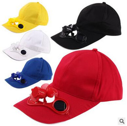 Golf Sports & Entertainment Red Solar Powered Air Fan Cooled Baseball Hat Camping Traveling