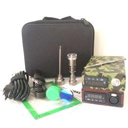 Chinese  Portable E dab nail kit electric dab nail rig E D electronic dabber box PID TC control Titanium Quartz Nail wax dry herb manufacturers