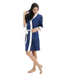 Chinese  Wholesale- Nightdress Home Clothing Nightgowns Sexy Bathrobe Indoor Clothing Female Sleepwear for women Bridesmaid Robe Brial Gift manufacturers