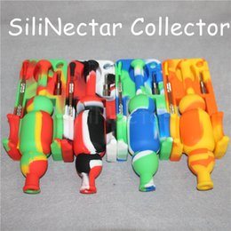 Micro Oil Australia - DHL Free Shipping Silicone Nectar Collector kit with 10mm joint Ti Nail nector collector oil rigs Micro NC Glass water Pipes
