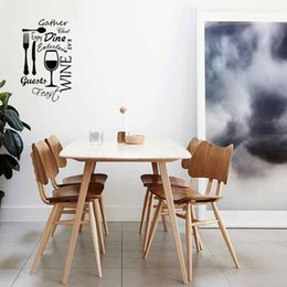Kitchen Word Cloud Vinyl Wall Removable Art Quote Interesting Sticker Dining Food Wine Decal Graphics Diy