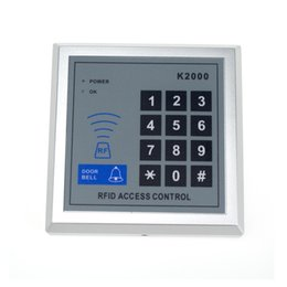 Discount proximity card system - Wholesale- 100pcs K2000 Door Access Control Keypad RFID ID Cards Proximity Reader for Home Offices Security System
