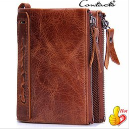Man Business Card Holder Canada - Cowhide Leather Men Wallet Cowhide Leather Wallet For Men Short High Quality Business Money Clip Wallet Card Holder Men Purse Out083