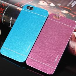 $enCountryForm.capitalKeyWord Australia - MOTOMO Ultrathin Brushed Metal Cell Phone Back Cases Cover Colorful Luxury Skin Aluminium Alloy For iPhone 7 6 6S Plus Samsung S6 edge