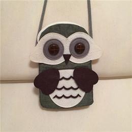$enCountryForm.capitalKeyWord NZ - Cartoon Owl Design cion purse Lovely Kids Bag 10pcs lot Cotton bag Hotsale Half round bag Soft Small Size Cute Baby Purse