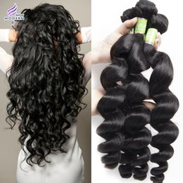 16 inch 1b hair Australia - 3 Bundles Brazilian Hair Mink Brazilian Loose Wave Human Hair Weave Unprocessed Brazilian Loose Deep Wave Virgin Hair Extensions Black 1B