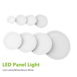 12w led panel spot 2019 - Non-dimmable LED Downlights Panel Lights 9W 12W 15W 18W 24W Ultral Thin Recessed Light Ceiling Spot Lights Warm Cool Whi