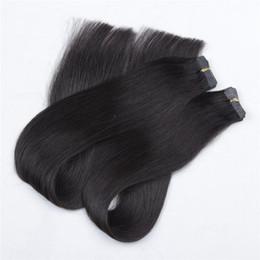 Hud väftband 0.8 * 4cm, 10 '' - 24 '' 2.5g / pc 40pcs / lot, rakt indisk mänsklig remy dubbelsidig PU-tejp i / på mänskliga hårförlängningar