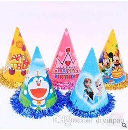 Freeze Paper Canada - Fashion paper frozen printed cap creative birthday party hat lovely Headdress chrismas party hats new year party decoration Disposable hat