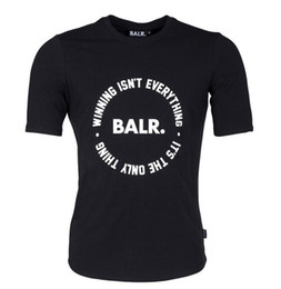 China 2017 new balr winning is only thing new black and white round edge cotton short sleeve Classic T shirt cheap edge prints suppliers